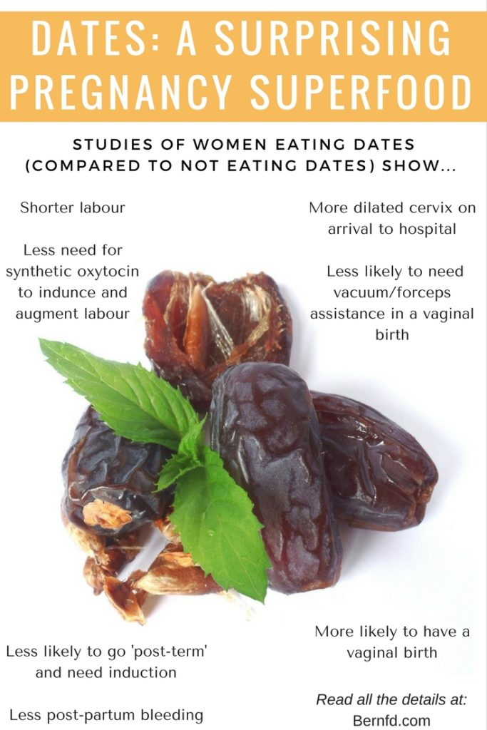 Studies show dates have superfood qualities when it comes to women to preparing for labour and birth.